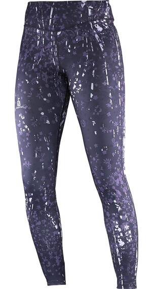 Salomon W's Elevate Long Tight Pant Nightshade Grey